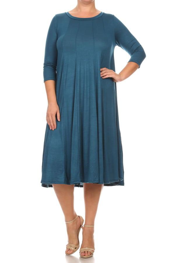 Womens Plus Dresses Walmartcom
