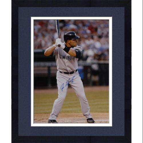"""Framed Ivan Rodriguez New York Yankees Autographed 16"""" x 20"""" Vertical Batting Photograph - Fanatics Authentic Certified"""