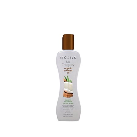 Biosilk SILK THERAPY with ORGANIC COCONUT OIL LEAVE IN TREATMENT FOR HAIR & SKIN 2.26oz