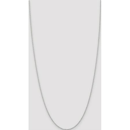 14k White Gold WG 2.0mm Handmade Regular Rope Chain - image 1 of 5