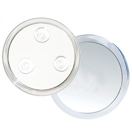 M724 10x Magnification Acrylic 3 Suction Cup Mirror