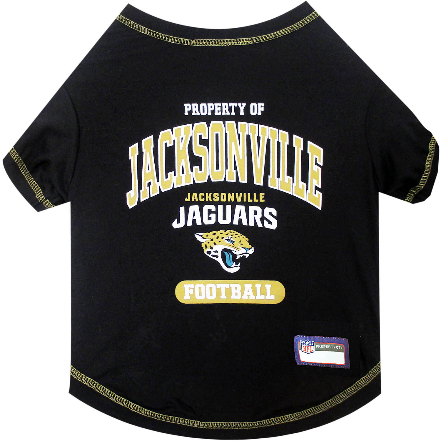 Pets First NFL Jacksonville Jaguars Pet T-shirt, Assorted Sizes