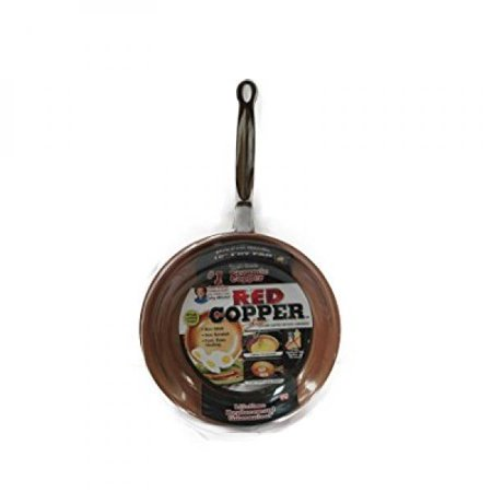 New 10 Inch Ceramic Copper Infused Skillet Frying Pan Non