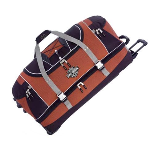 Harley-Davidson Hybrid Luggage 35'' Travel Equipment Duffel, Rust/Black  99635-RB
