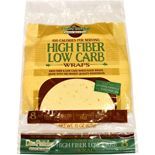 Don Pancho High Fiber Low Carb Wraps, 8ct