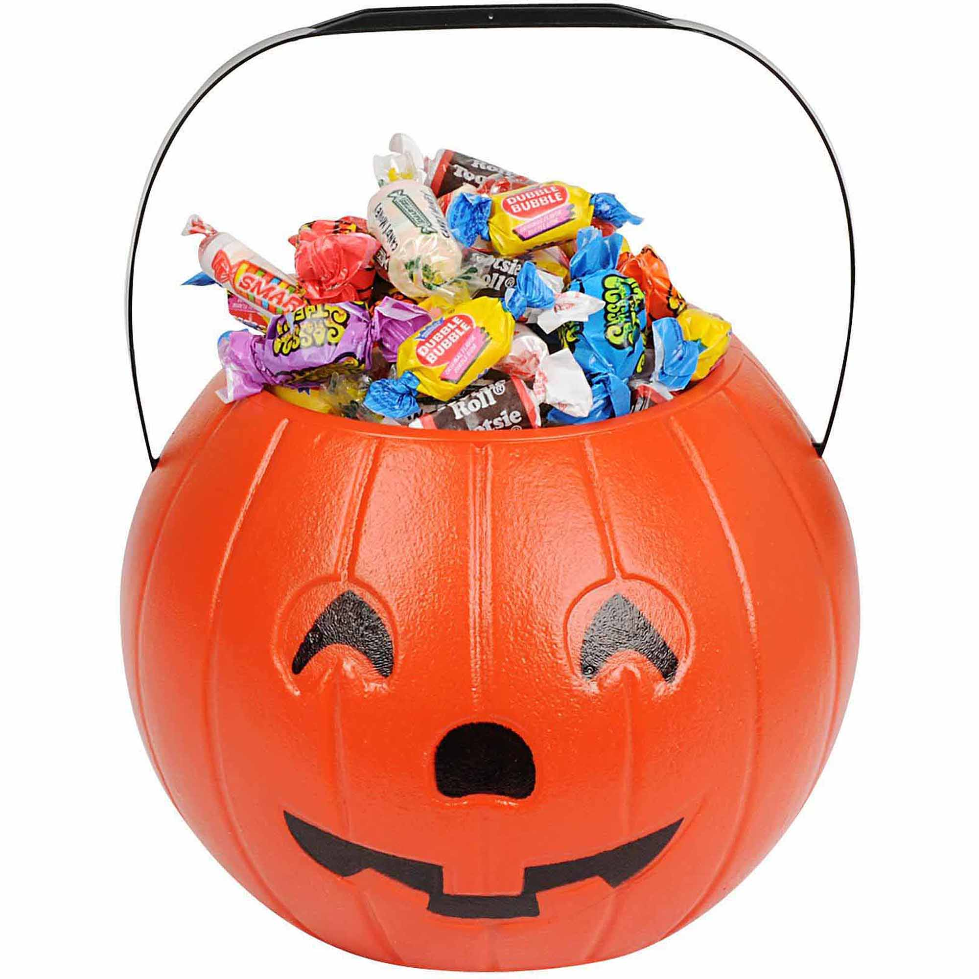"8"" Pumpkin Treat Bucket Halloween Costume Accessory"
