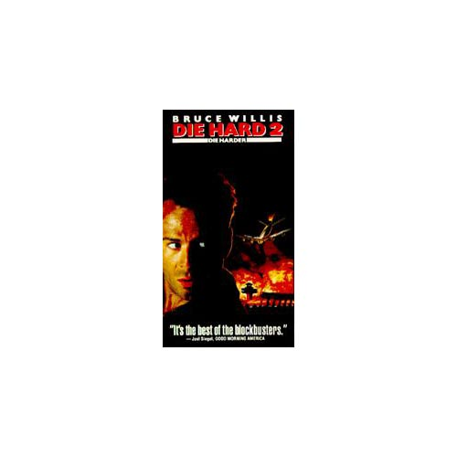 DIE HARD 2: Die Harder (VHS) Bruce Willis, William Atherton, Bonnie Bedelia
