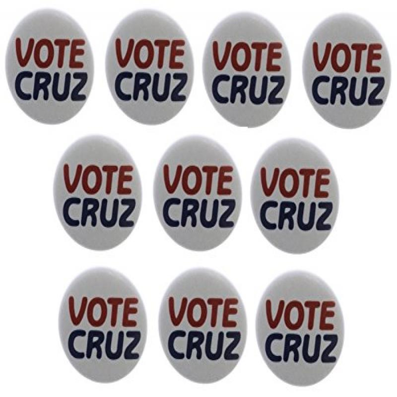 "Quantity 10 Vote Cruz 1.25"" Magnets Ted President 2016 Election"