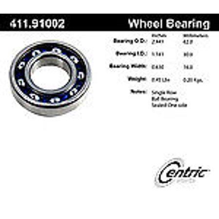 (Centric 411.91002E Standard Axle Ball Bearing)