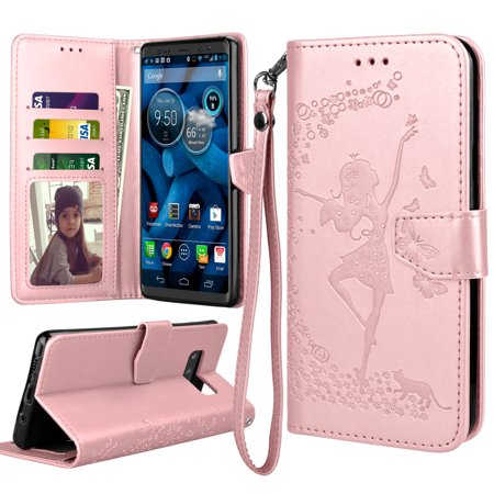 Galaxy Note 8 Case, Note 8 Wallet Case, Samsung Galaxy Note 8 Flip Cover, Tekcoo Luxury Premium PU Leather [Rose Gold] ID Cash Credit Card Slots Holder Clutch Carrying Cases w/ Kickstand & Lanyard](cheapest note 2 deals)