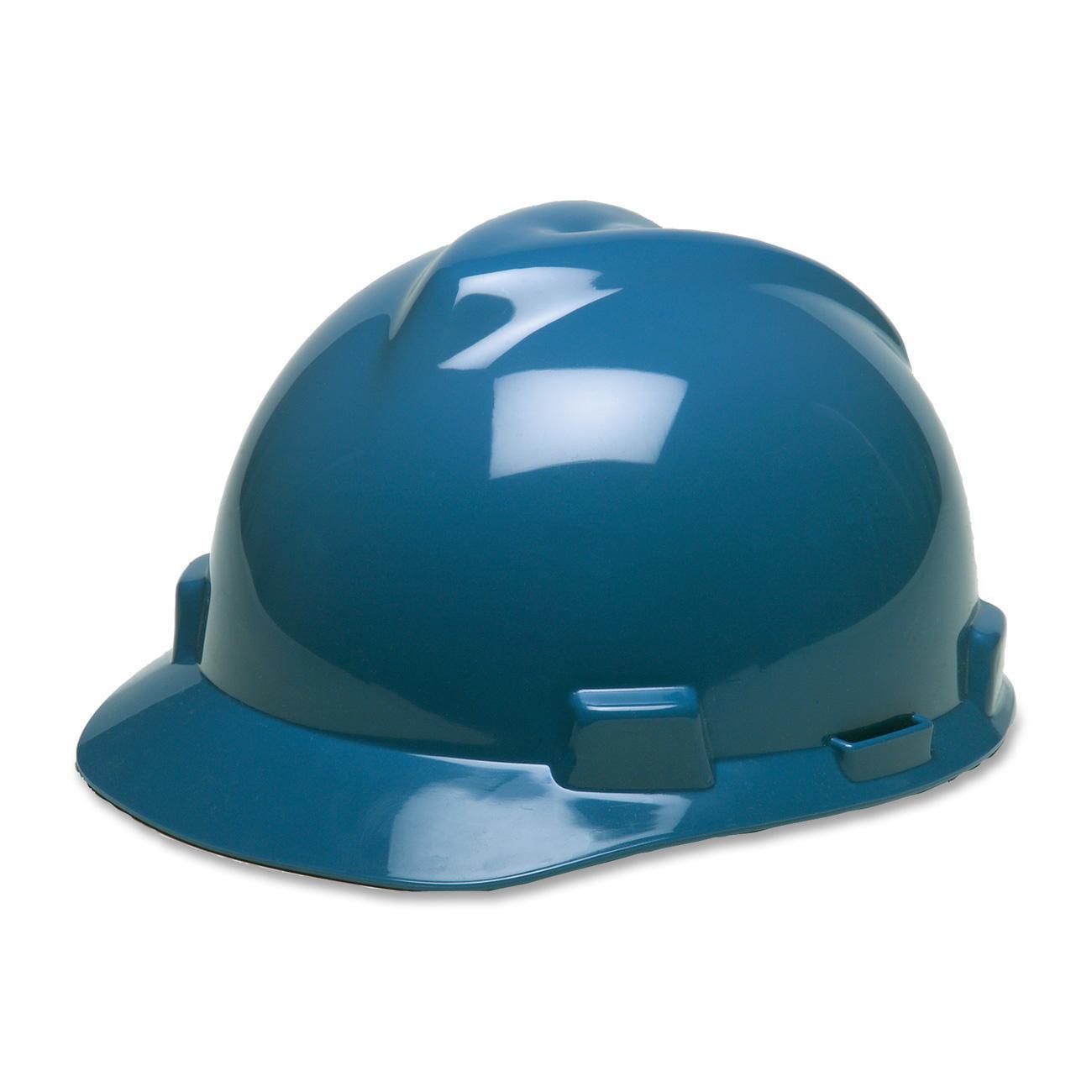 MSA, MSA475359, V-Gard Fas Trac Suspension Safety Cap, 1 Each, Blue