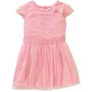 Toddler Girl Bow Detail Tulle Dress