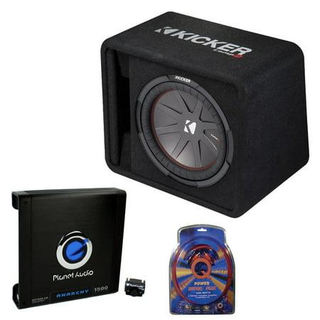Wondrous Kicker 12 Inch 1000W Subwoofer Box 1500W Mono Amplifier Remote Wiring 101 Cominwise Assnl