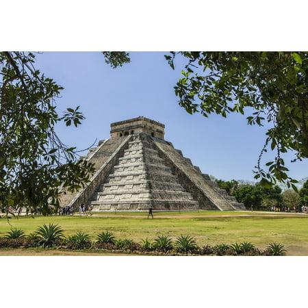 - Ancient step pyramid Kukulkan at Chichen Itza, Mexico. Print Wall Art By Jerry Ginsberg