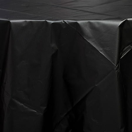 Shindigz Black Plastic Tablecover, 300ft by (Black Plastic Cover)