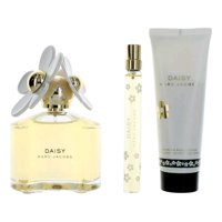 Marc Jacobs awgmrjd319 Daisy Gift Set with Toilette Spray & Body Lotion for Women - 3 Piece