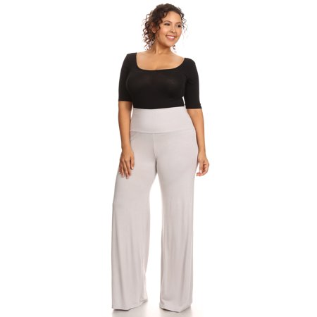 Plus Size Women's Palazzo Pants Hight Waisted Made in the (Palazzo Pants Jumpsuit)