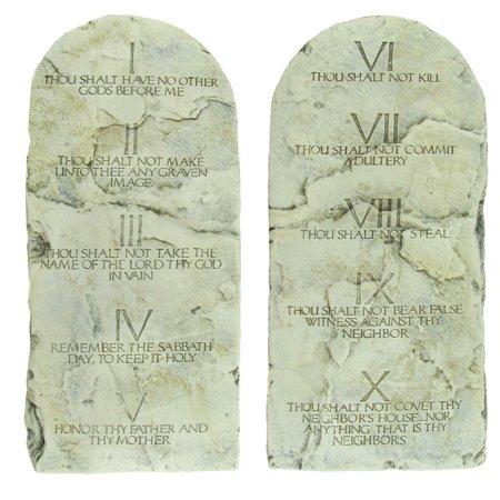 10 ten commandments tablets cast stone tablet set for Decor 6 tablet