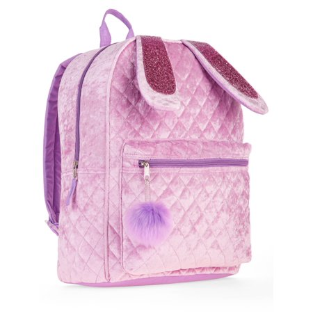Bunny Quilted Velvet Backpack