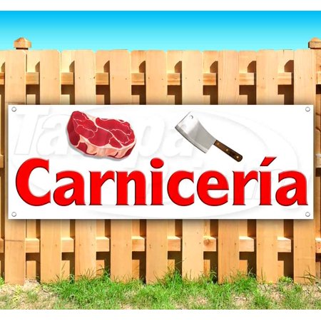 Carnicería Spanish Butcher Shop 13 oz heavy duty vinyl banner sign with metal grommets, new, store, advertising, flag, (many sizes available)