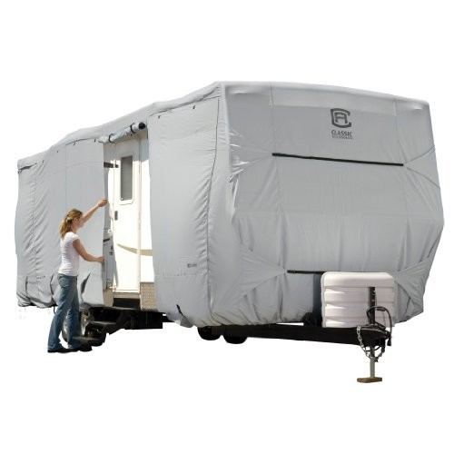 80-259-151001-00 Lightweight Ripstop Fabric RV Cover Fits 10-12 Campers Classic Accessories Overdrive PermaPRO Deluxe Camper Cover