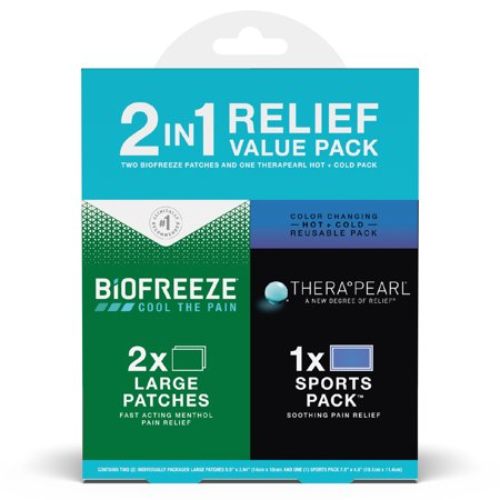 Biofreeze and TheraPearl 2-in-1 Recovery Kit, Large Patch