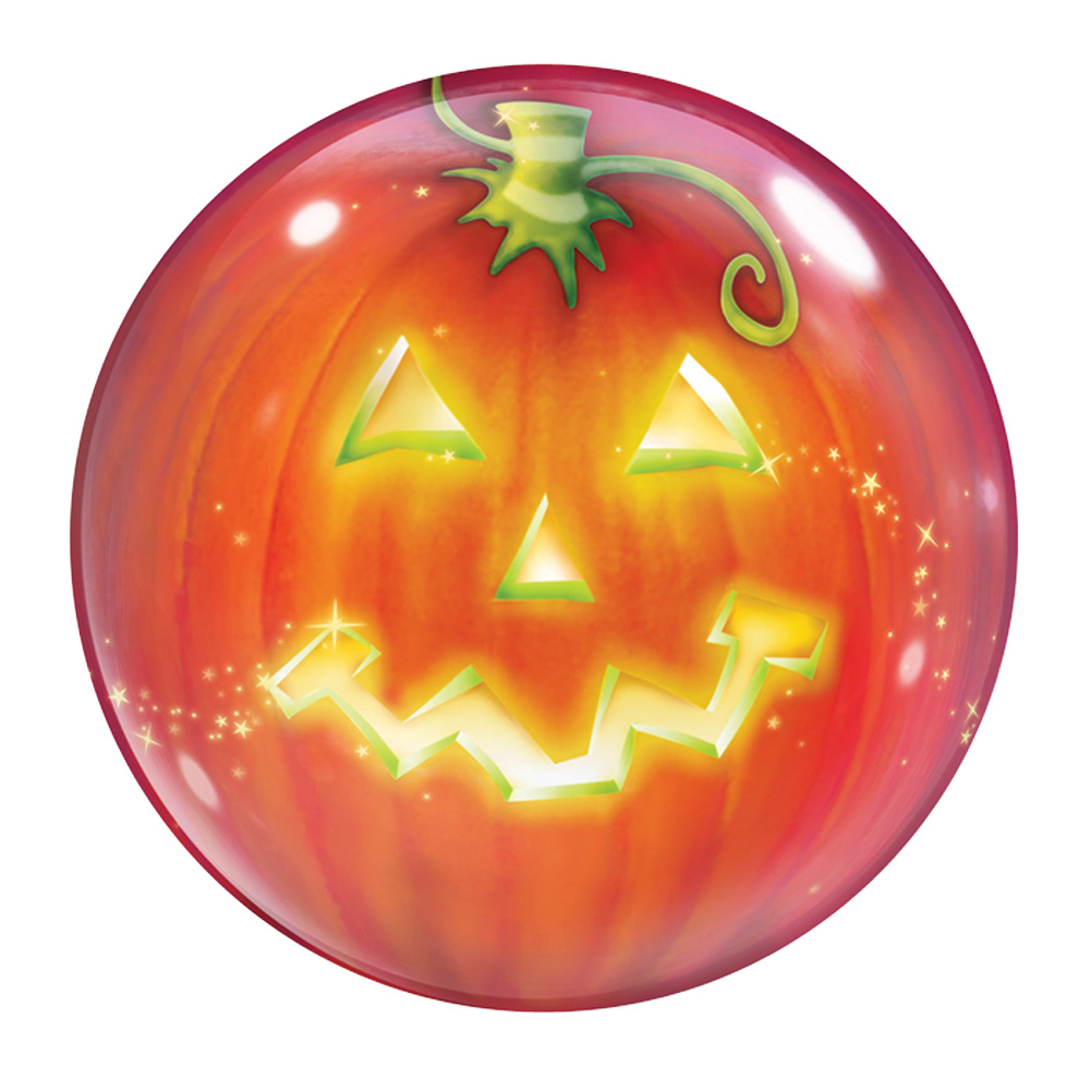 "Qualatex Halloween Magical Jack-O-Lantern 22"" Bubble Balloon, Orange"