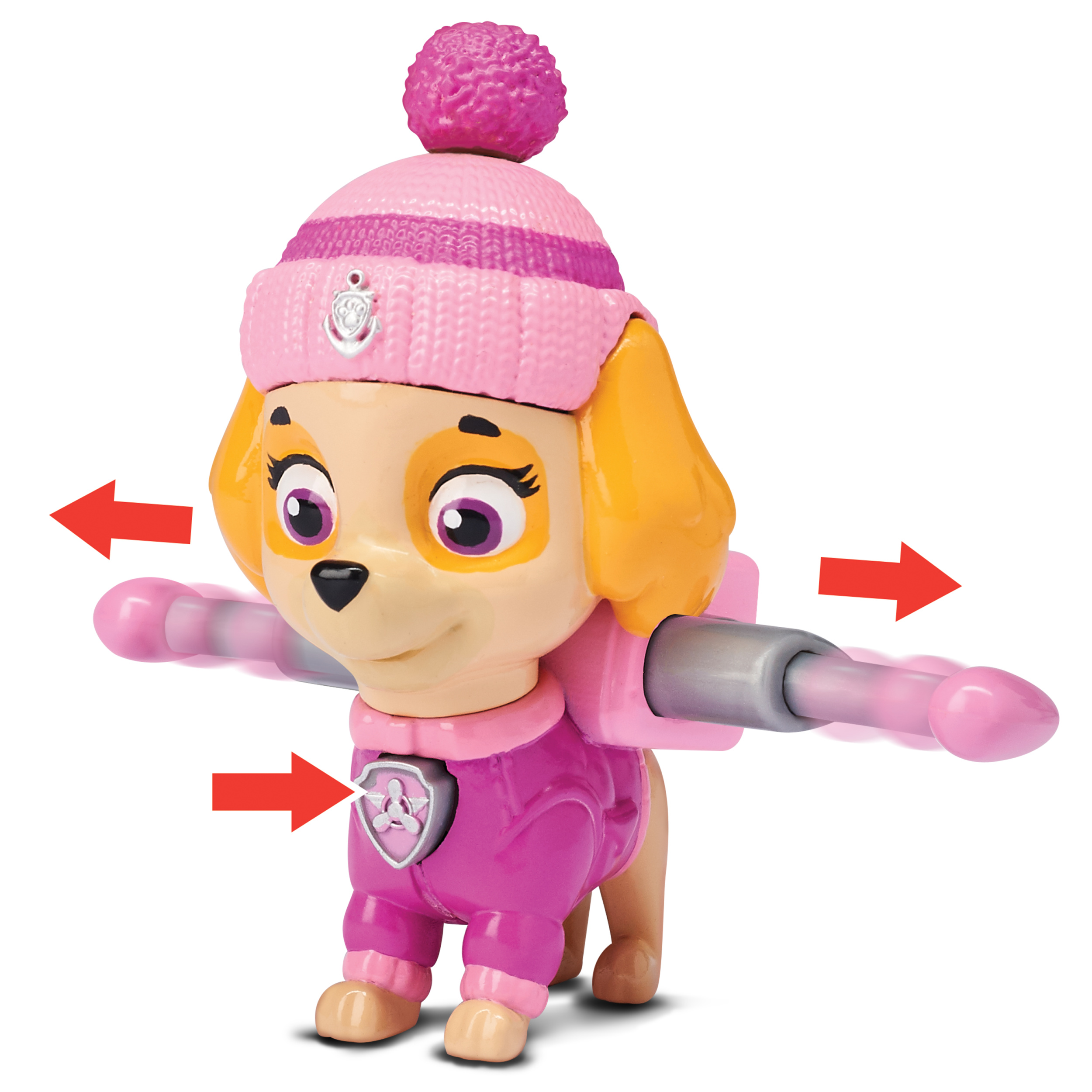 <p>Paw Patrol Snow Rescue – Skye with Transforming Pup Pack and Badge – Walmart Exclusive</p>