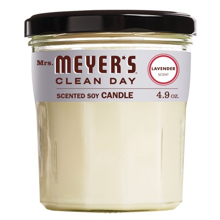 Mrs. Meyer's Clean Day Scented Soy Candle, Lavender, Candle, 4.9 ounce ()