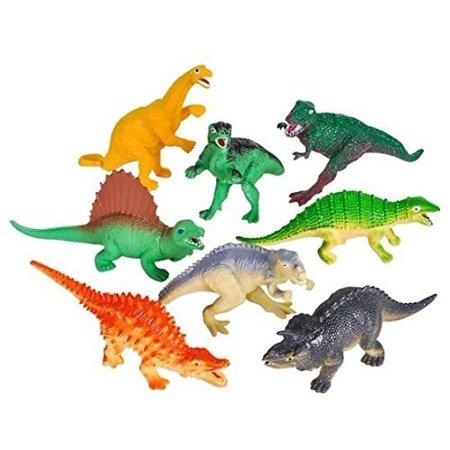 Vinyl Dinosaurs - Vinyl Colored Dinosaur Toys - 12 Pack 5-7