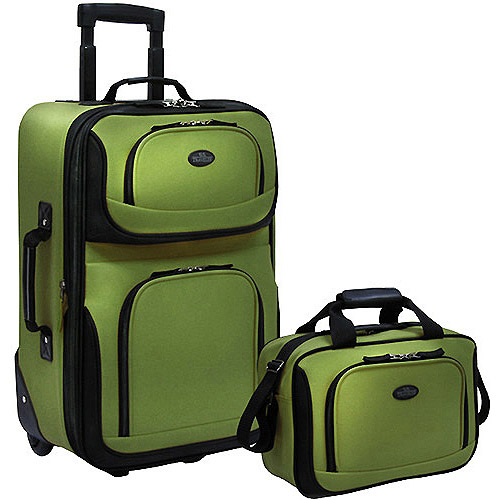 U.S. Traveler Rio 2-Piece Carry-On Luggage Set, Multiple Colors