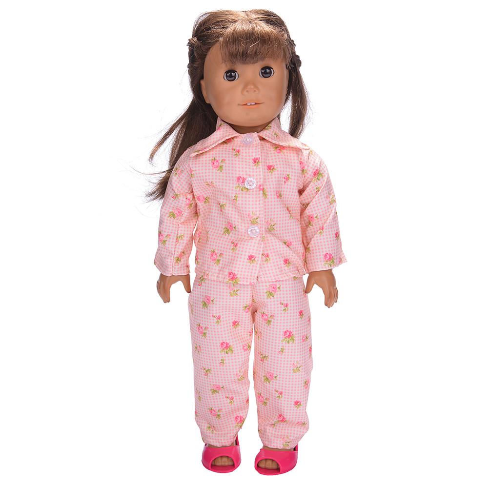 Mosunx Cute Pajamas Nightgown Clothes For 18 inch Our Generation American Girl Doll