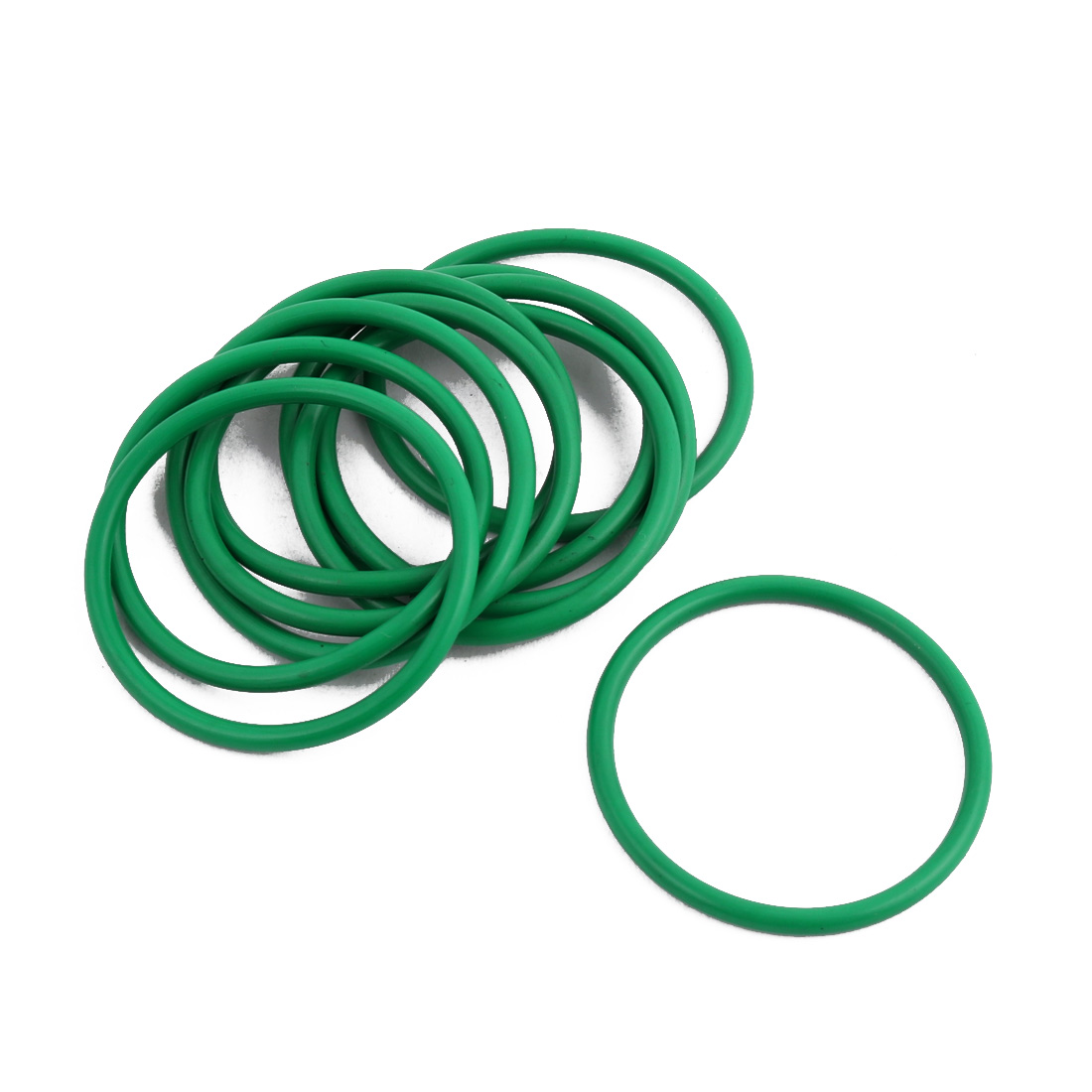 10Pcs Green 30 x 1.9mm Industrial Flexible Rubber O Ring Oil Sealing Grommets