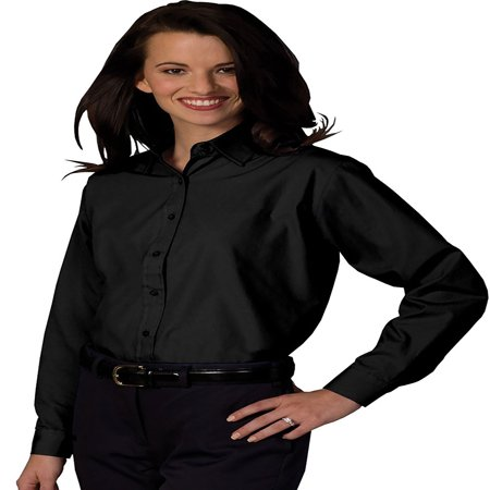 Edwards Garment Women's Long Sleeve Value Broadcloth Shirt, Style 5363 Banded Collar Broadcloth Shirt