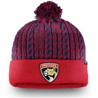 Florida Panthers Fanatics Branded Women's Iconic Ace Cuffed Knit Hat with Pom - Red - OSFA