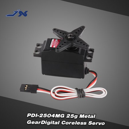 JX PDI-2504MG 25g Metal Gear Digital Coreless Servo for RC 450 500 Helicopter Fixed-wing Airplane - image 1 of 7
