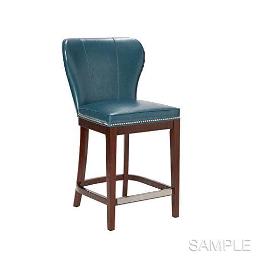 Stupendous Counter Stool Hilton Blue Brown Machost Co Dining Chair Design Ideas Machostcouk