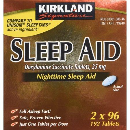 Kirkland Sleep Aid Doxylamine Succinate 25 Mg 192 Tablets 2 Bottles (Kirkland Sleeping Aid)
