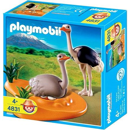 Zoo African Wildlife Ostrich Family with Nest Set Playmobil 4831