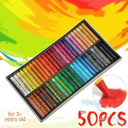 Multi Color Pastel (Multi-color Non-Toxic Oil Soft Pastel Children's Galley Drawing Crayons Set Kids )