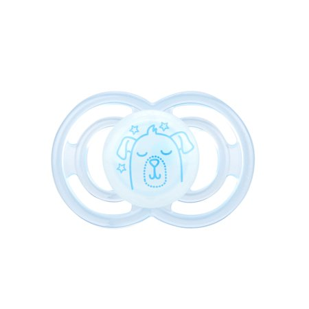 MAM Glow In The Dark Pacifiers, Baby Pacifier 6+ Months, Best Pacifier for Breastfed Babies, Premium Comfort and Oral Care 'Perfect' Collection, Boy,