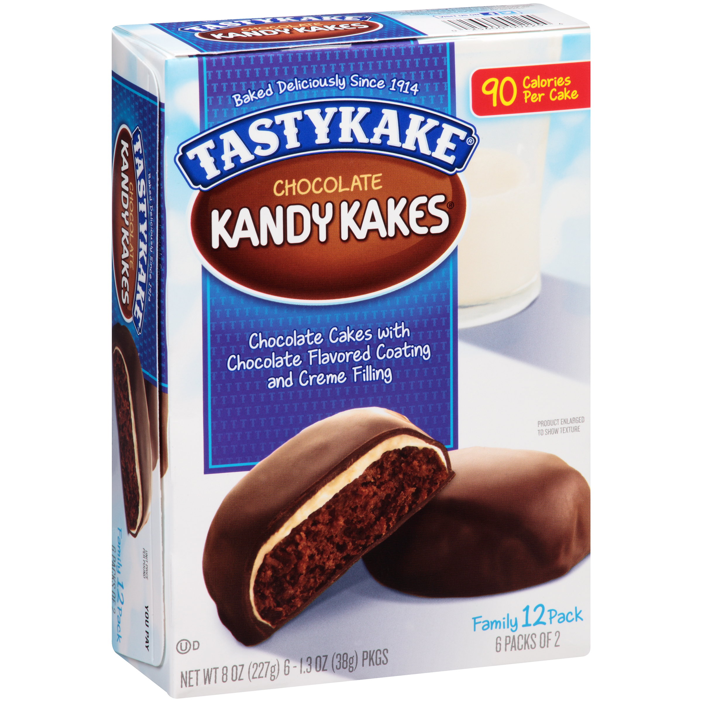 Tastykake Chocolate Kandy Kakes, 1.33 oz, 6 ct