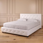 DHP Dakota Upholstered Faux Leather Platform Bed, Multiple Options Available
