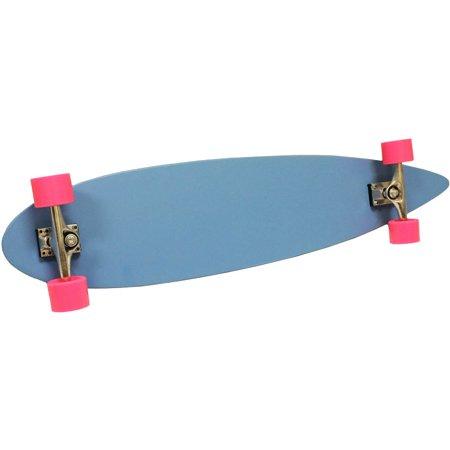 Blue Longboard (BLUE PINK LONGBOARD SKATEBOARD COMPLETE DECK, TRUCKS, WHEELS)