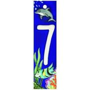 En Vogue NA-007 Aquarium Series 7 - Decorative Ceramic Art Tile - House Number - 2 in.x8.5 in.En Vogue