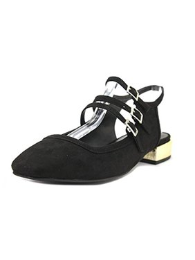 Design Lab Womens Alica Strappy Square Toe Slingbacks
