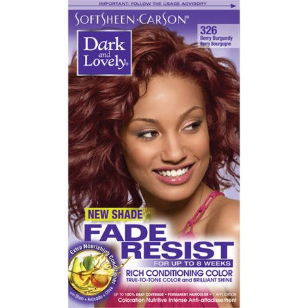 SoftSheen-Carson Dark and Lovely Fade Resist Rich Conditioning Color 326 Berry (Collar Berry)