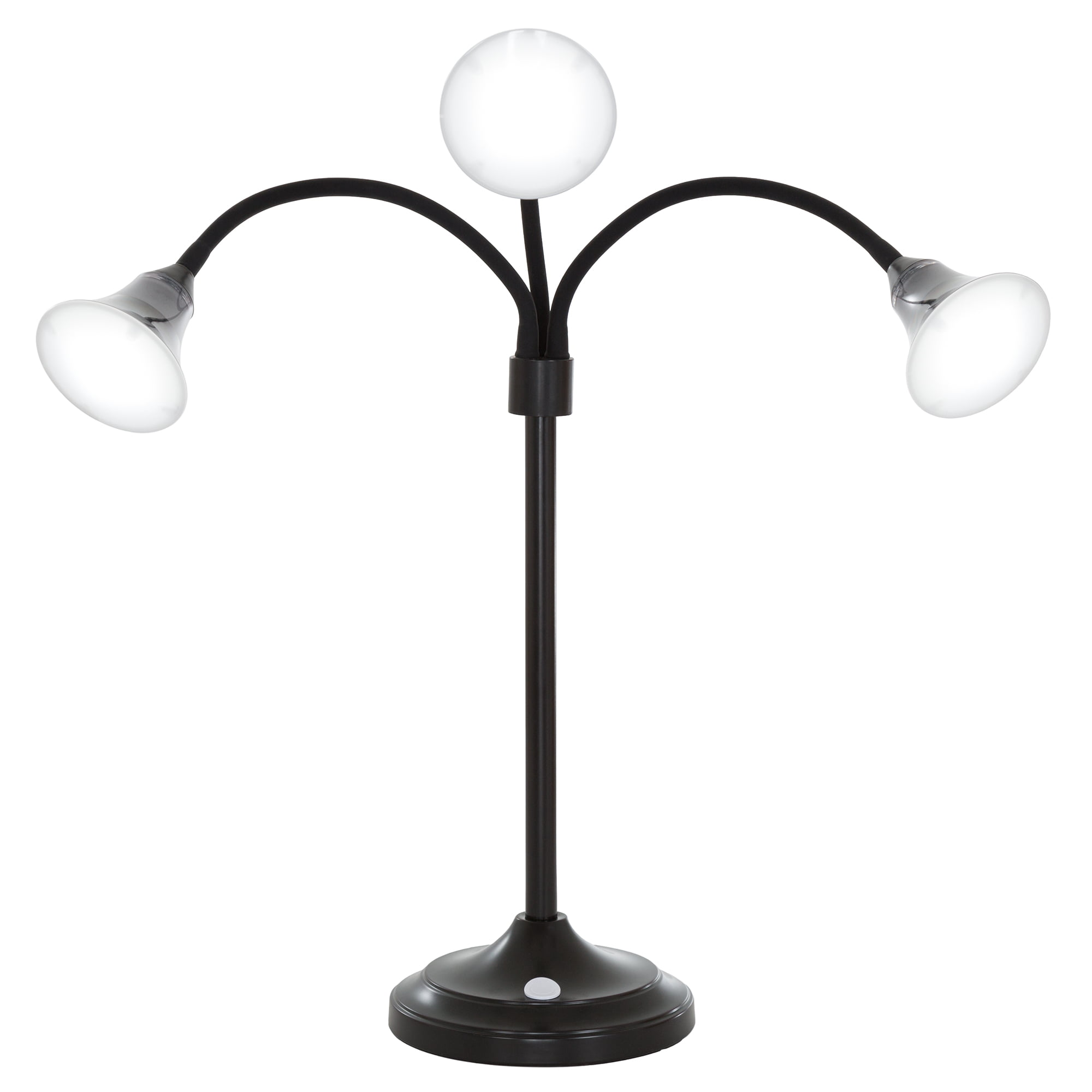 3 Head Desk Lamp, LED Light with Adjustable Arms, Touch Switch and Dimmer (Multiple Colors) by Lavish Home by Trademark Global LLC
