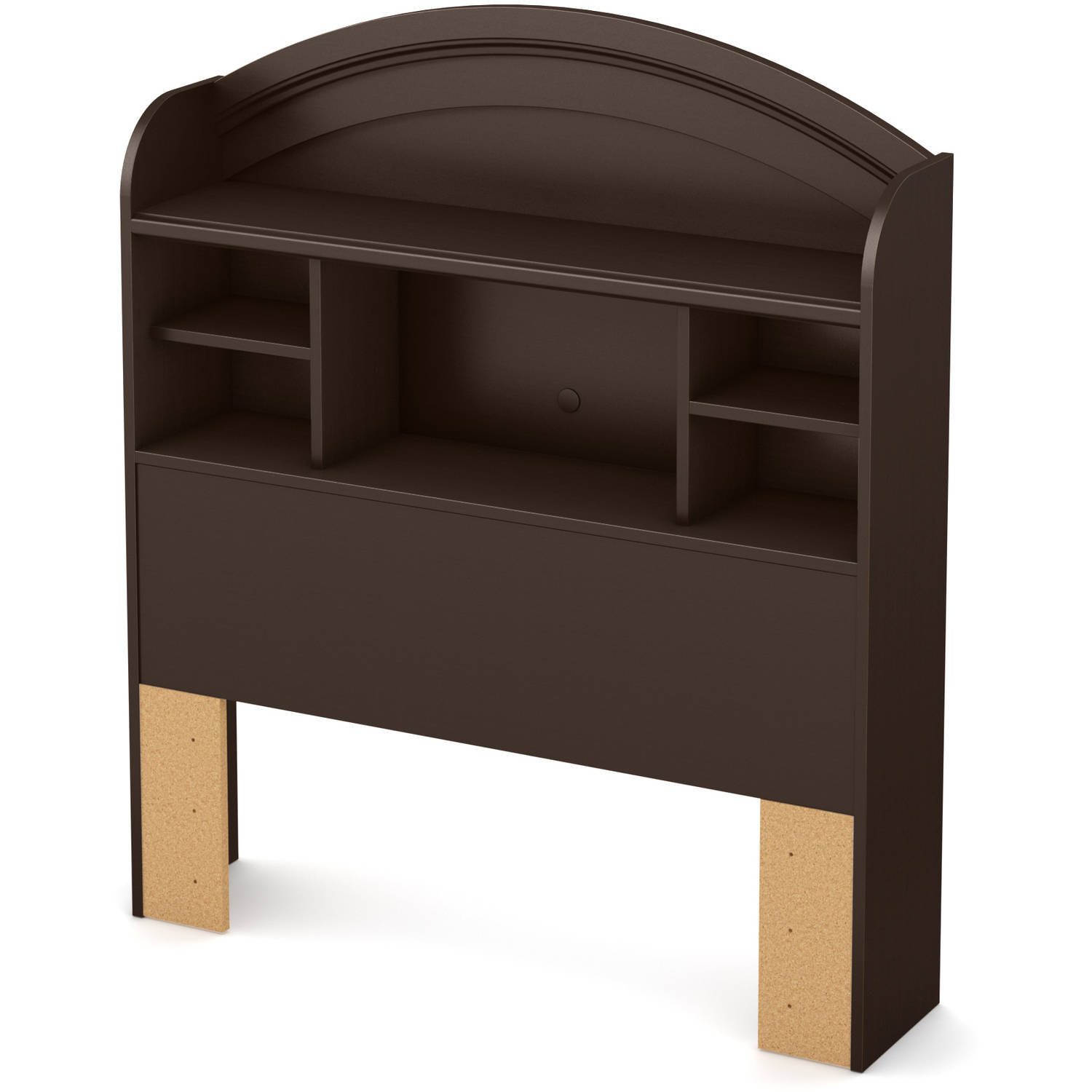 "South Shore Morning Dew 39"" Twin Bookcase Headboard, Chocolate"