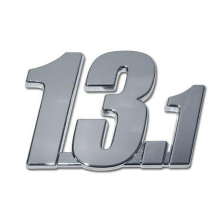 13.1 Half Marathon Chrome Emblem